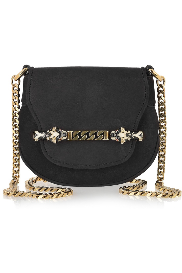 Gucci bag, Net-A-Porter had a great idea: wrap the chain strap around your wrist and use as a clutch.