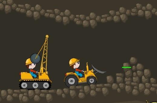 Ayuda a estos hermanos constructores a escavar y derribar todo para poder hacer bien un buen túnel, ten cuidado en no gastar toda la gasolina en vano para no quedarte ahí atrapado, cambia con la barra espaciadora y utiliza bien tu demoledora y escavadora
