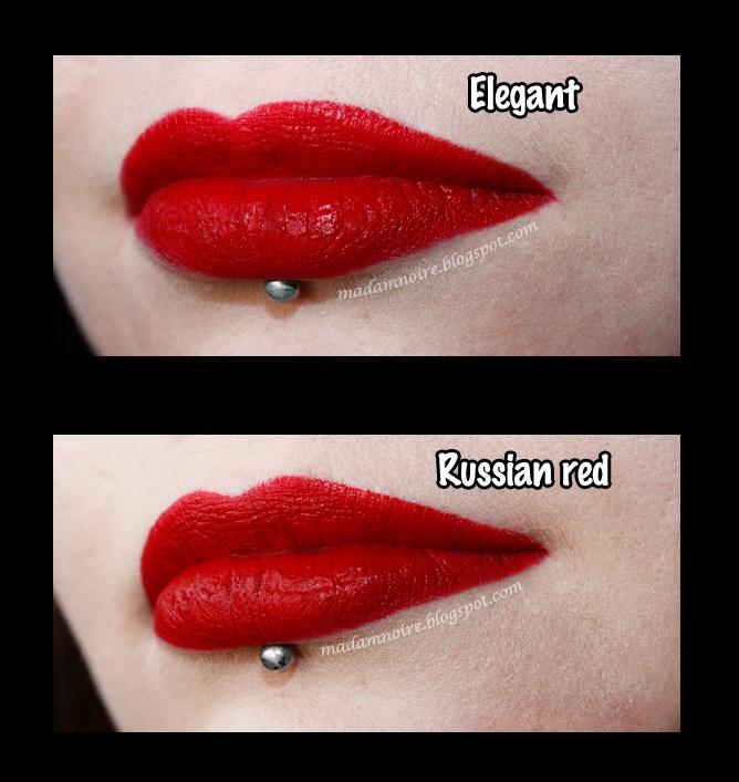 MAC Russian Red Dupe = MAKEUP Geek Elegant
