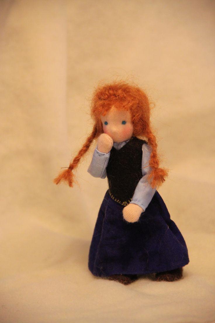 ElineDolls: Anna (Frozen) dollhouse dolls waldorf style