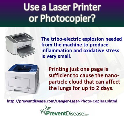 Laser Printers and Photo Copiers Release Invisible Toxins Which Cause Inflammation And Oxidative Stress