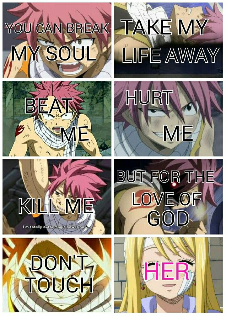 You can break my soul Take my life away Beat me Hurt me Kill me But for the love of God  Don't touch HER [Edited by Yours Truly]