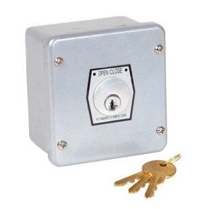Commercial Garage Door Opener 1KX Key Switch by MMTC. $51.00. 1KX Key Switch Key Switch control stations are used to operate gate openers and garage openers from a distance with a simple turn of a key. Simple to install, they can be used to operate anything from a single gate to multiple gates or doors on your property. Wire is run to the open/close relay on your garage door opener or gate operator and some are key lockable for securing and entrance after hours or ...
