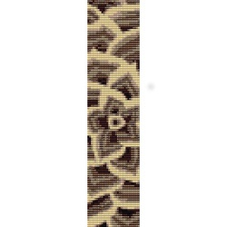 CONTEMPORARY FLOWER - peyote (loom) beading pattern for cuff bracelet (buy any 2 patterns - get 3rd FREE) http://beadpatternsplus.ecrater.com/