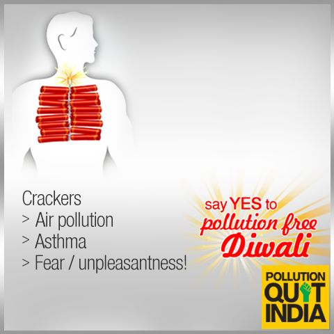 006 Break the cycle. Say no to crackers. PollutionFreeDiwali