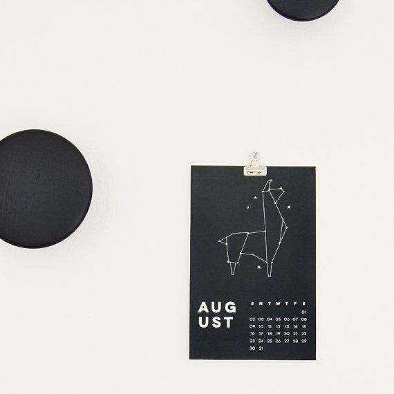 2015 Wall Calendar  Constellation Animals by 45wall on Etsy