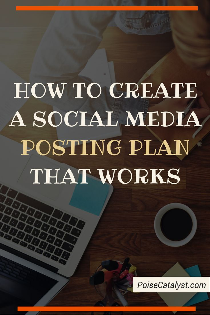 Want to create a social media plan that works! Click through for the video tutorial!