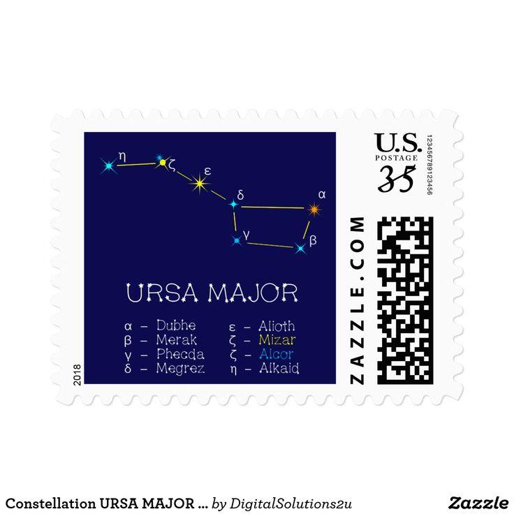 Constellation URSA MAJOR unique, elegant Postage