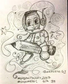 HenArte & TIC's: #graphitnuary2017 #DibuRetosDía 31 Por el placer d...