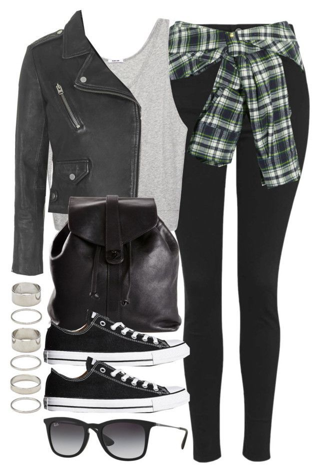 """Style #9676"" by vany-alvarado ❤ liked on Polyvore featuring moda, Topshop, Faith Connexion, Helmut Lang, Chanel, Converse, Ray-Ban ve Forever 21"