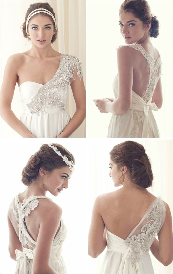 Anna Cambpell Wedding Gowns  Love the unique details on these: Wedding Dressses, Anna Campbell, Wedding Dresses, Weddings, Anna Cambpel, Wedding Gowns, Dinners Dresses, One Shoulder, The One