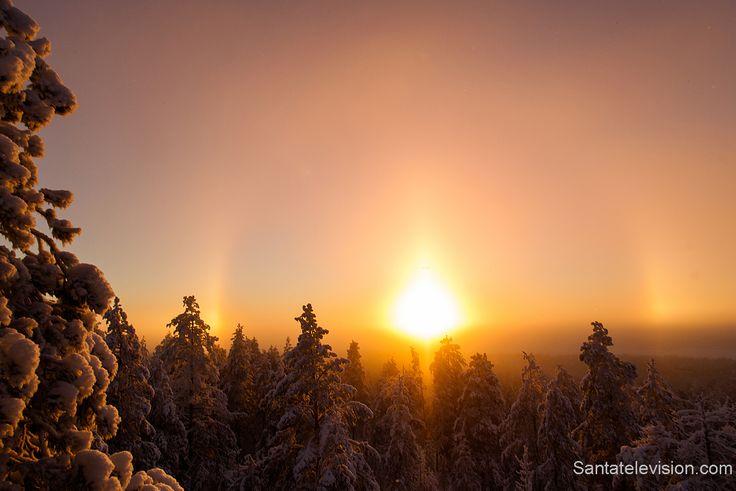 Явление ореола в Лапландии в Финляндии