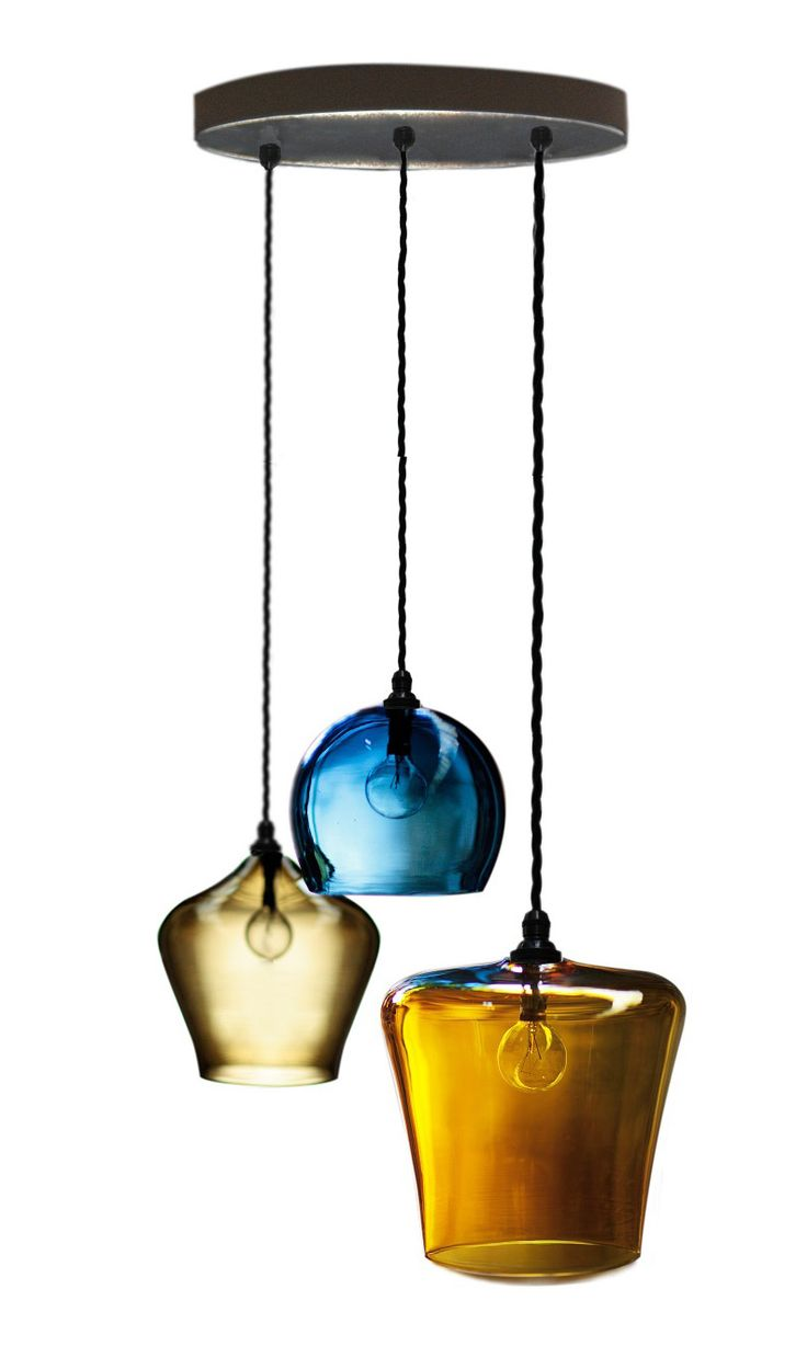 Blown Glass Pendant Lighting For Kitchen The 15 Best Images About Lights On Pinterest Industrial Metal