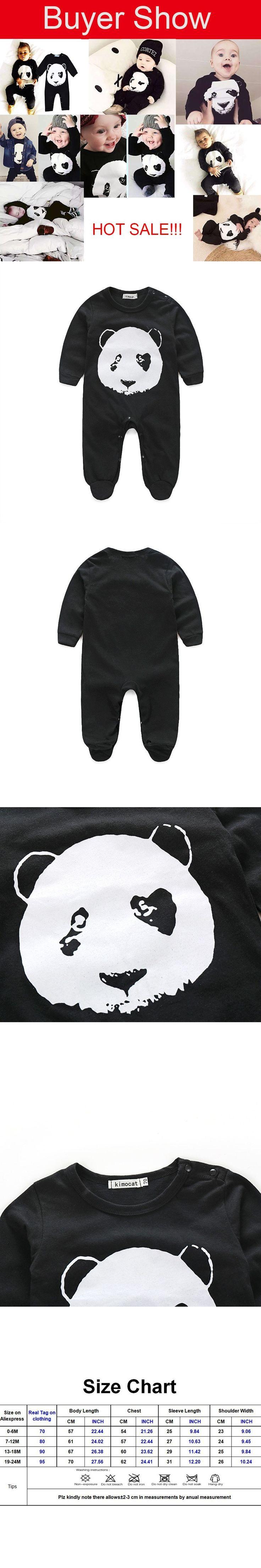 2016 Newborn Baby Boy Clothes Roupas Para Bebes Animal Jumpsuits Long Sleeve Panda Baby Romper Carters Children Clothing 2017