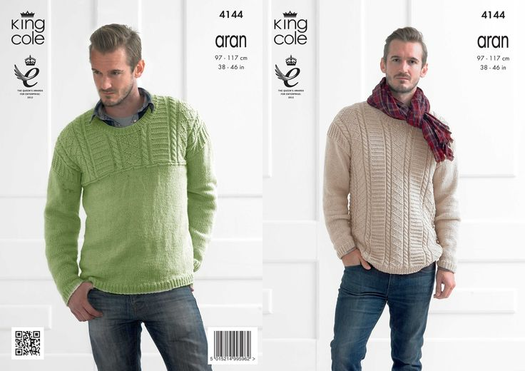 4144 | Knitting Patterns | Textured Sweaters