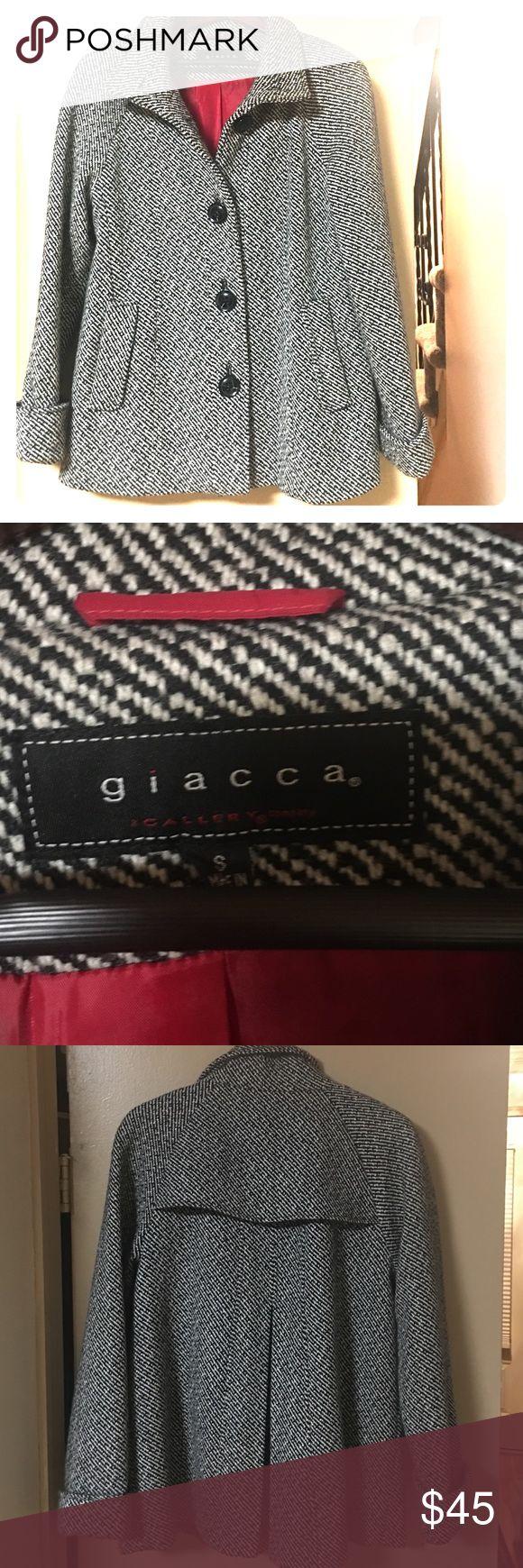 Giacca swing coat Black and white tweed Giacca Jackets & Coats