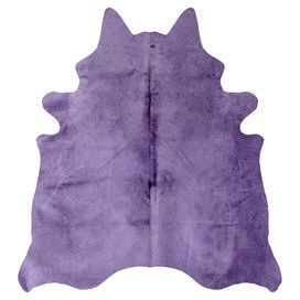 Anchor your living room seating group or define space in the den with this eye-catching cowhide rug, featuring a purple hue and natural silhouette.   Product: RugConstruction Material: Cowhide Color: PurpleDimensions: 6' x 7'Note: Size is approximate. Please be aware that actual colors may vary from those shown on your screen. Accent rugs may also not show the entire pattern that the corresponding area rugs have.