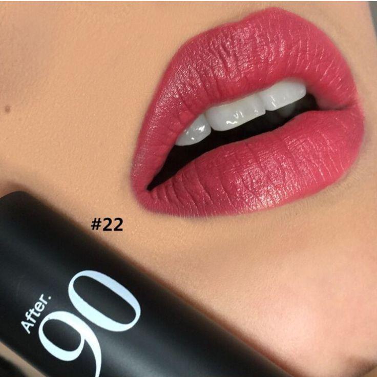 30 colores mate terciopelo lápiz labial Sexy rojo rosa labio Batom marcas brillo de labios Stick mejor de larga duración mate lápiz labial rojo maquillaje Nude