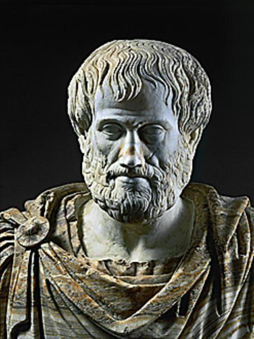Aristóteles, filósofo, maestro de Alejandro Magno, (384-332 aC). Copia romana en mármol de un bronce griego. Museo Nazionale Romano, Roma, Italia