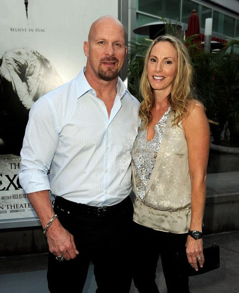 """Stone Cold"" Steve Austin quietly married his forth wife, Kristen Feres in late 2009. The two split their time between their Broken Skull Ranch in Tilden, Texas & their home in Los Angeles."