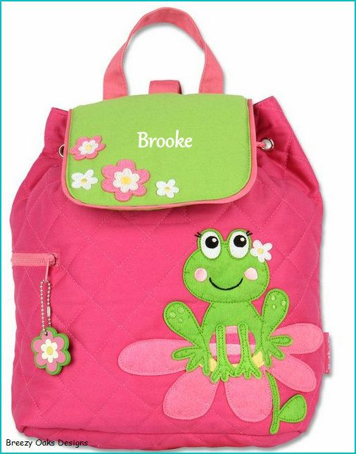 Check Out Personalized Frog Backpack School Bookbag Toddler Diaper Bag Childrens