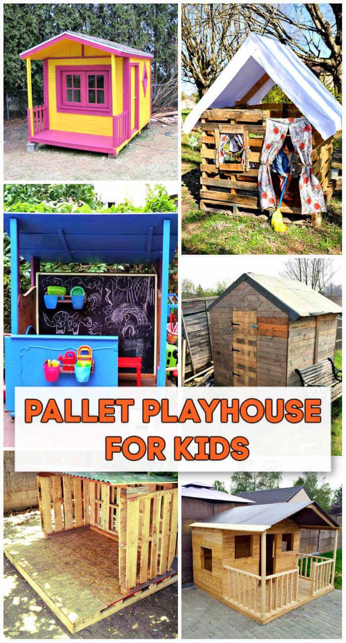7 Diy Pallet Playhouse Plans For Your Kids Diy Crafts A Playhouse