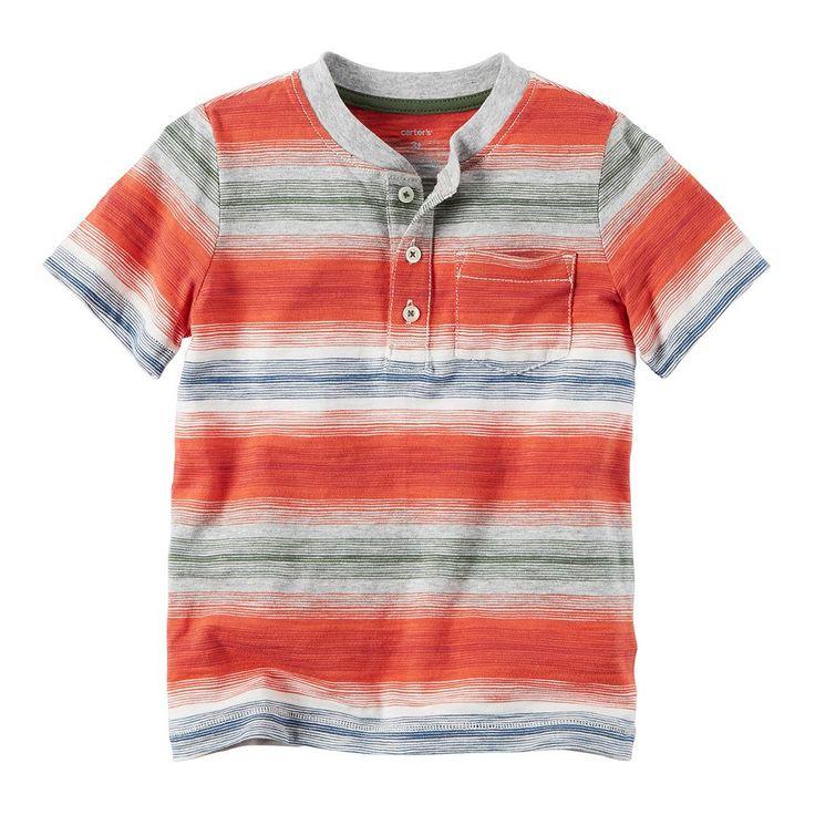 Boys 4-8 Carter's Striped Pocket Henley Tee, Size: 5, Ovrfl Oth