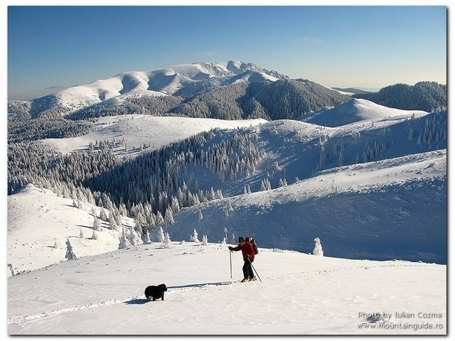 Bucegi Mountais in winter