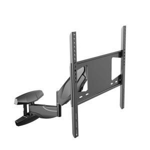 interactive full motion tv wall mount arm up and down move tilt swivel tv bracket for 32 in 50 in tvs black