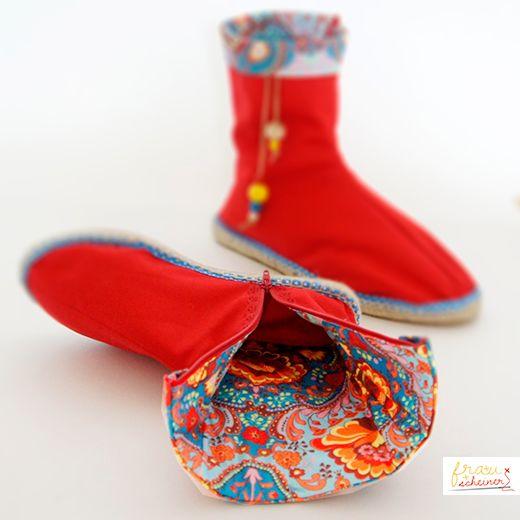 Espadrilles-Stiefel-naehen_SCHnittmuster-Naehanleitung, nähen, sewing, Schuhe, Schnittmuster, Nähanleitung, Pattern, Espandrilles, Tutorial, boots, STiefel,