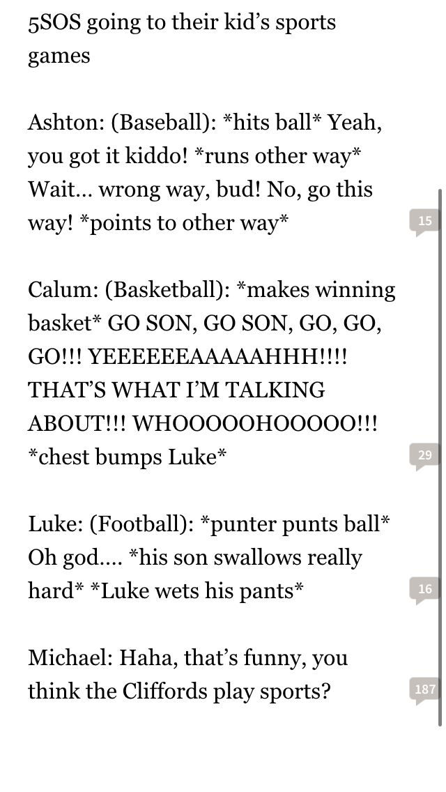 5sos watching there kids game