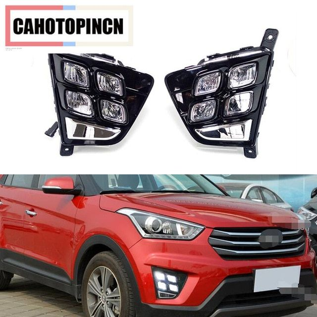 Car Accessories Waterproof Abs 12v Led Daytime Running Light Drl