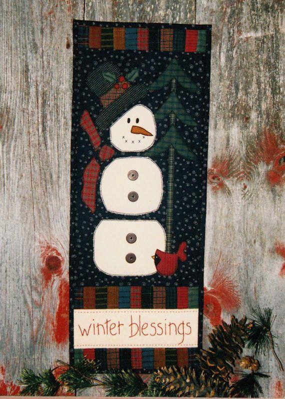 203 best Applique Patterns images on Pinterest | Paper models ... : snowman quilt patterns applique - Adamdwight.com