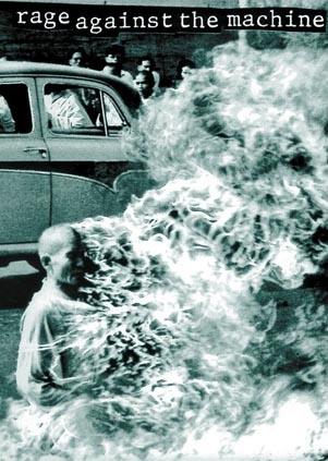Rage Against The Machine - Burning Buddhist Monk Poster