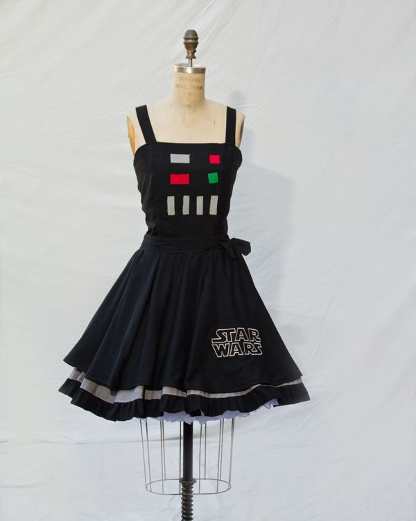 Retro Style Star Wars, Doctor Who and Doctor Horrible Dresses Pretty sure I've seen this or something similar on Etsy before. I absolutely love it!