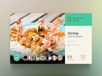 Dribbble - Food Widget by Olia Gozha