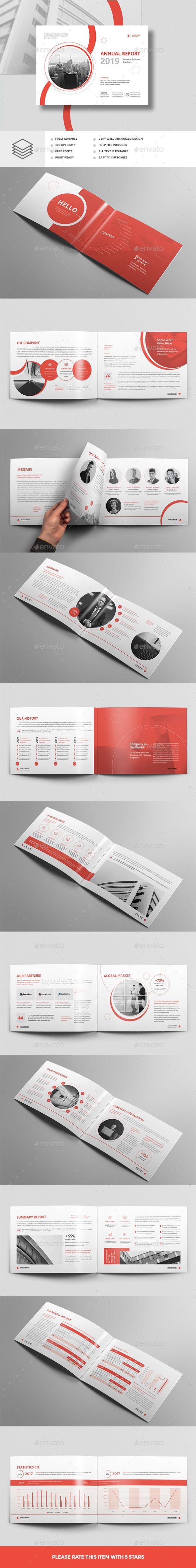 Annual Report Landscape A4 — InDesign INDD #identity #indesign templates • D...