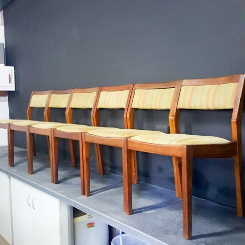 Mid-century dining chairs: set of six, great design, well made, sturdy good condition, beautiful! R5900 includes delivery to DEPOT!