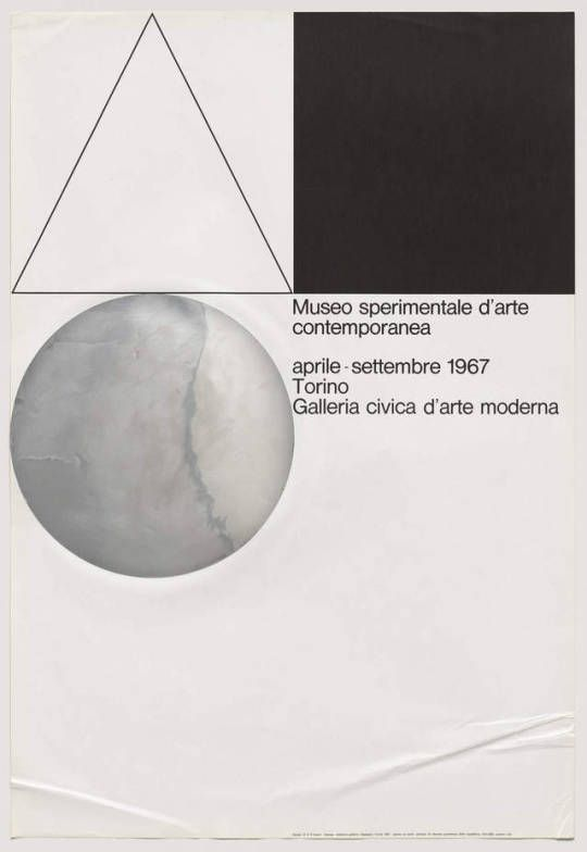 AG Fronzoni, Museo sperimentale d'arte contemporanea, April – September 1967, Galleria civica d'arte moderna, Torino