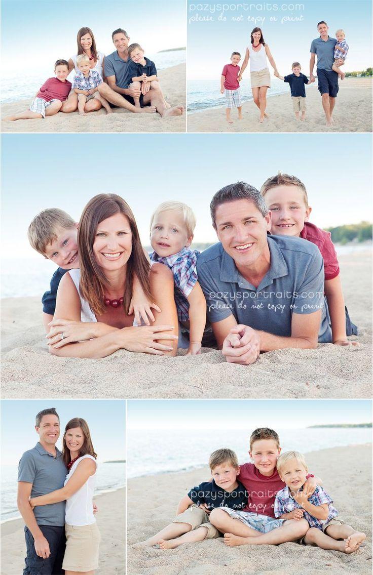 family beach photo shoot outfits...no white shirts and kacki shorts yay!