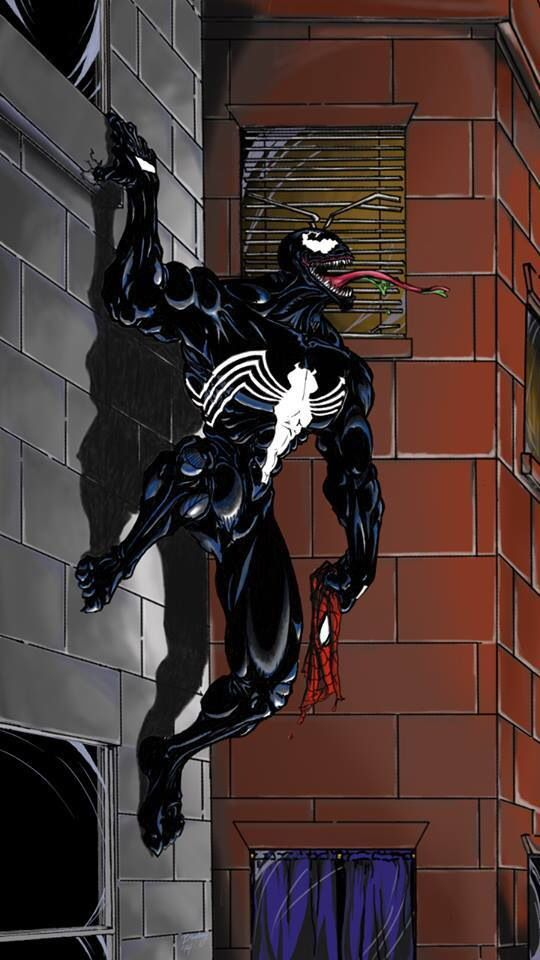 Venom with Spider Man's Mask.