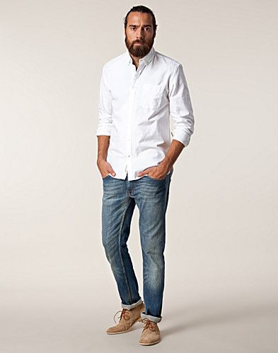 Shirts men jack jones oxford shirt nelly com for White oxford shirt mens