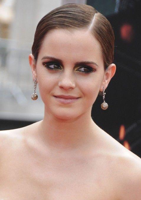 Elegant Short Slicked Back Pixie Haircut Emma Watson