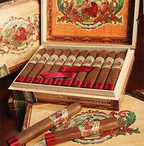 My Father Flor de las Antillas pays homage to Cuba, the 'Flower of the Antilles,' and the island's rich cigar heritage. The Flor de las Antillas is somewhat milder and lighter on the spice than most cigars produced by My Father Cigars. A Nicaraguan puro blended with several Cuban seed tobaccos and wrapped in sun-grown leaf harvested from the Garcia's farm in Esteli, this well-balanced, medium-bodied cigar offers notes of coffee and cream throughout with a touch of spice.