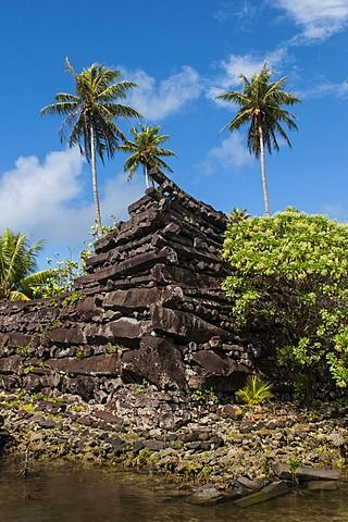 Ruined city of Nan Madol, Pohnpei (Ponape), Federated States of Micronesia…