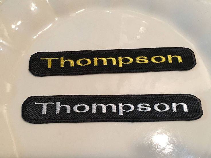 Custom Embroidered Patch Name Patch Velcro Patch Sew on Patch Embroidery Name Patch  Name Tag Patch Personalize patch Your name patch by ThompsonBoutique on Etsy