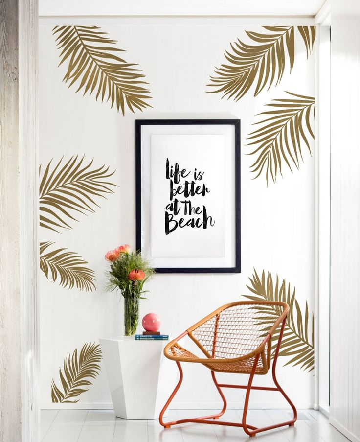 Turn your baby nursery or any room in your home into a tropical paradise with our Palm Leaf Wall Decals!