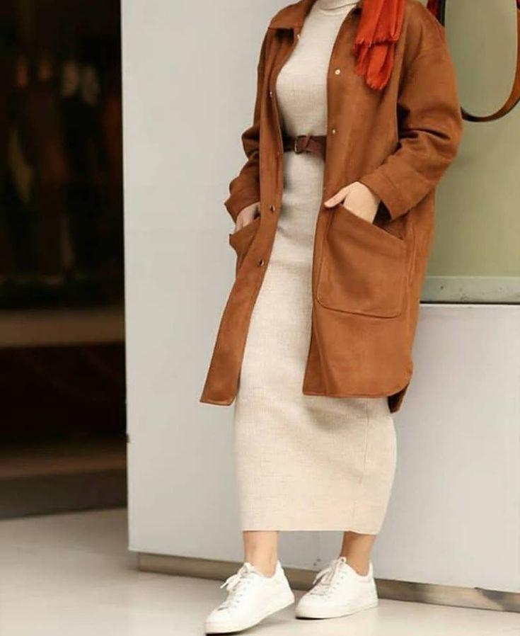 Oversized sweater dress hijab style