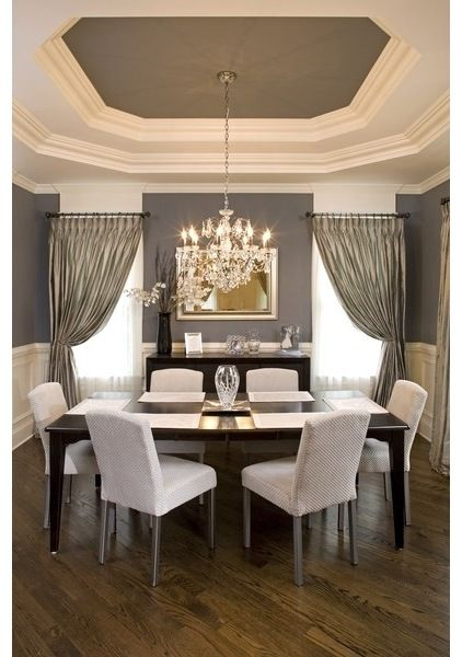 Ceiling - sherwin williams sw7046 anonymous | dining room by Oakley Home Builders