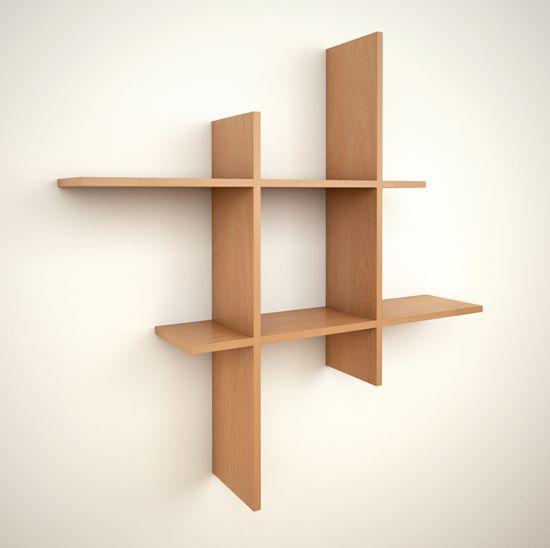 Estantería Dipholis acabado Haya. Espectacular estante de diseño asimétrico, colgado a la pared. Incorpora estantes para guardar lo que se desees y mantener en orden y a la vista tus objetos más preciados. Ideal para espacios pequeños. Moderno y muy práctico